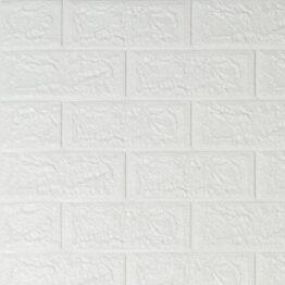 Декоративная 3D панель под кирпич белый-1