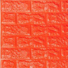 Декоративная панель 3D самоклейкая подкирпич оранжевый